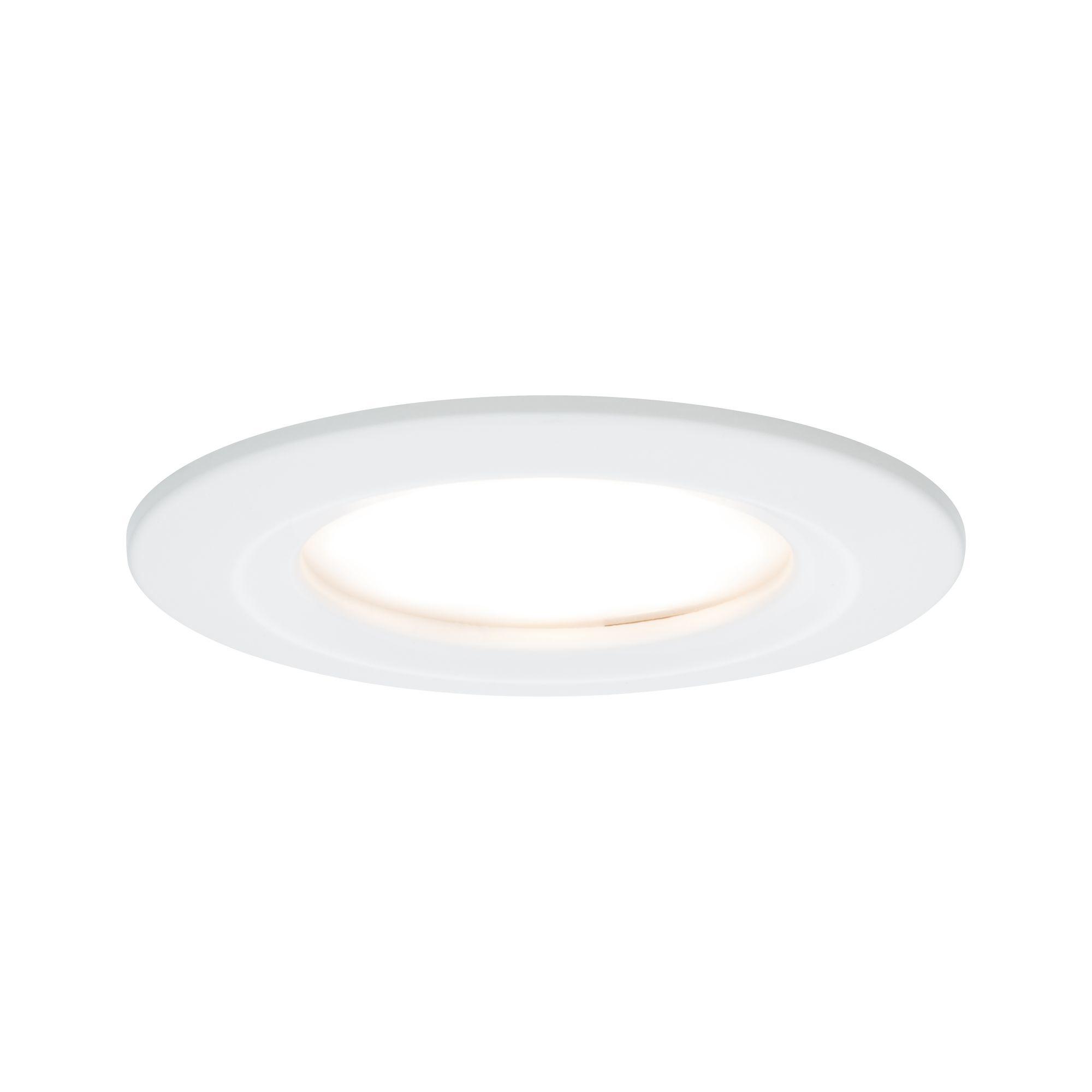 Paulmann EBL Set Nova Coin rund starr LED 1x6,5W2700K 230V Weiß matt/Alu