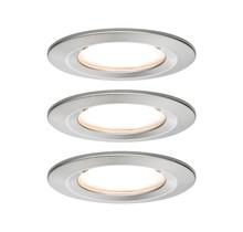 EBL Set Nova Coin rund starr LED 3x6,5W2700K 230V Eisen geb/Alu