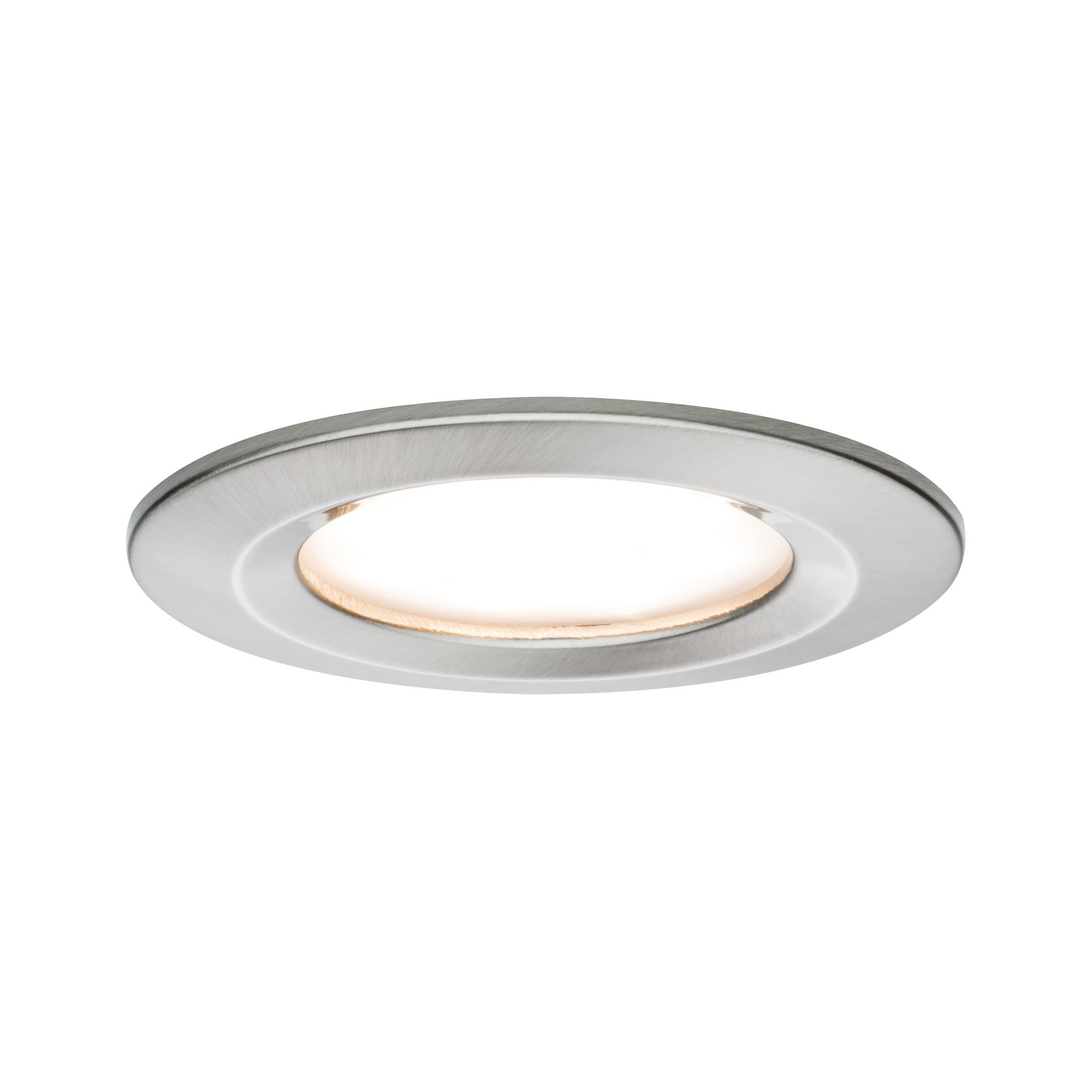 Paulmann EBL Set Nova Coin rund starr LED 1x6,5W2700K 230V Eisen geb/Alu
