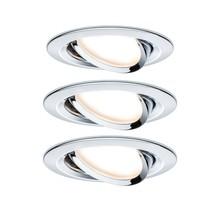 EBL Set Nova Coin rund schwenkbar LED3x6,5W 2700K 230V Chrom/Alu
