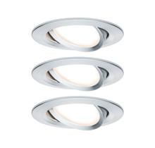 EBL Set Nova Coin rund schwenkbar LED3x6,5W 2700K 230V Alu gedreht/Alu