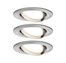 EBL Set Nova Coin rund schwenkbar LED3x6,5W 2700K 230V Eisen geb/Alu