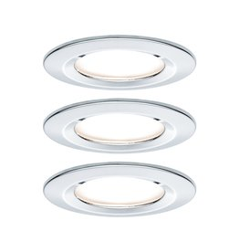 Paulmann EBL Set Nova rund starr LED IP44 3x6,5W2700K 230V GU10 51mm Chrom/Alu