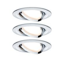 EBL Set Nova rund schwenkbar LED 3x6,5W2700K 230V GU10 51mm Chrom/Alu