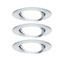 EBL Set Nova rund schwenkbar LED 3x6,5W2700K 230V GU10 51mm Alu ged/Alu