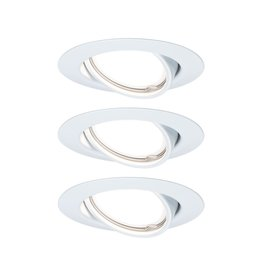 Paulmann EBL Base rund schwenkbar LED 3-stepdim3x5W 230V GU10 51mm Weiß/Metall