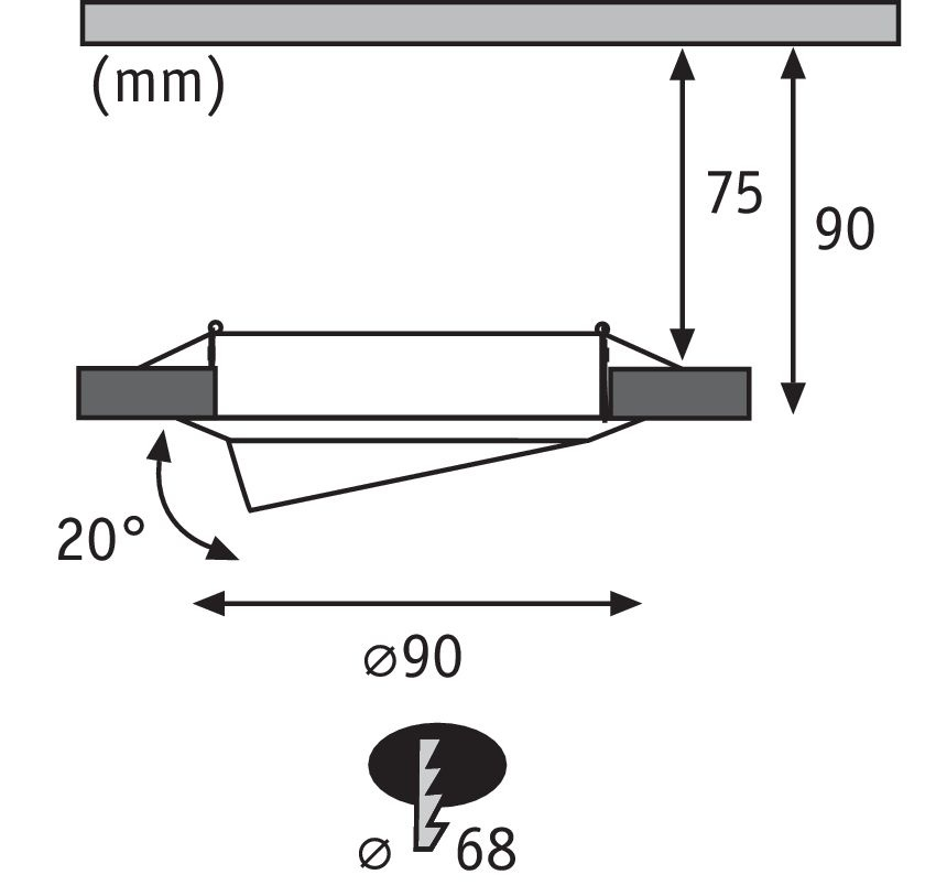 Paulmann EBL Base rund schwenkbar LED 3-stepdim3x5W 230V GU10 51mm Eisen geb/Metall