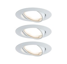 EBL Base Coin LED schwenkbar 3x5W 230V51mm Weiß/Metall