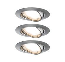 EBL Base Coin LED schwenkbar 3x5W 230V51mm Eisen geb/Metall
