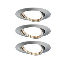 EBL Base rund schwenkbar LED 3x5W 230VGU10 51mm Eisen geb/Metall
