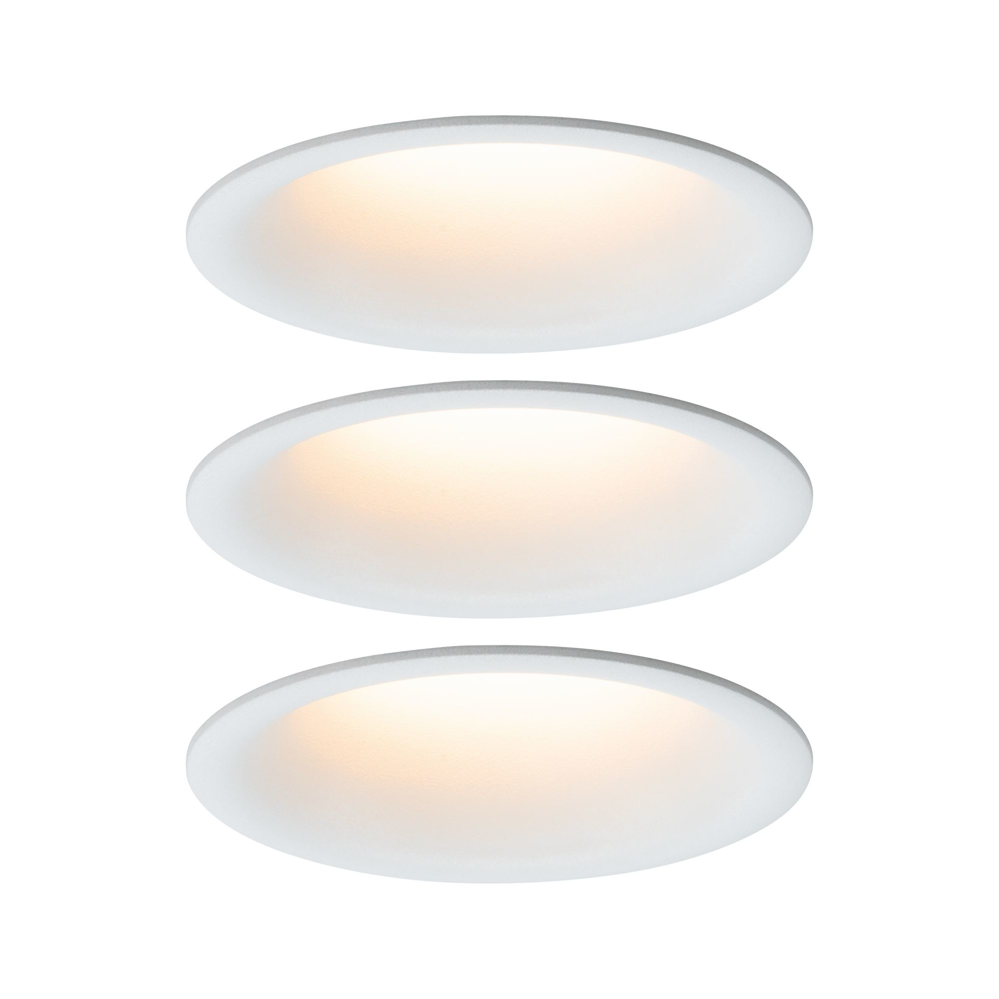 Paulmann EBL Set Cymbal Coin warmdim blendfrei3x6,5W/480lm 230V 2000-2700K Weiß matt
