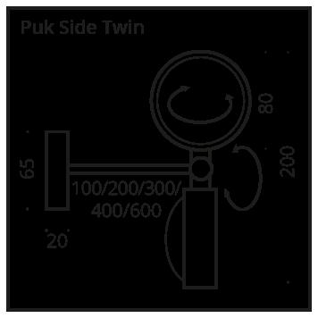 Top Light PUK Side Twin Halogen