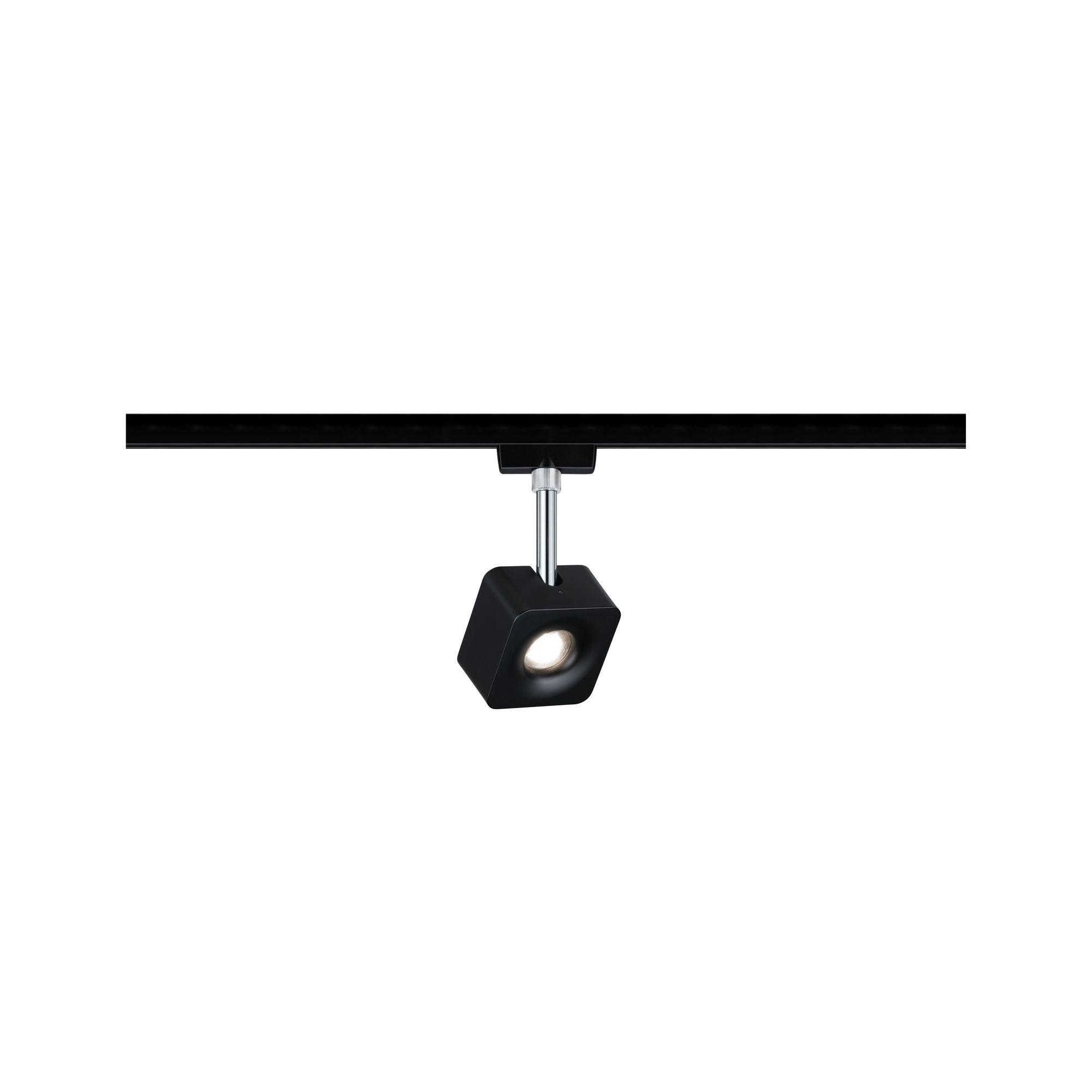 Paulmann URail Spot Cube 1x8W schwarz matt/chrom 230V Metall 4000K dimmbar