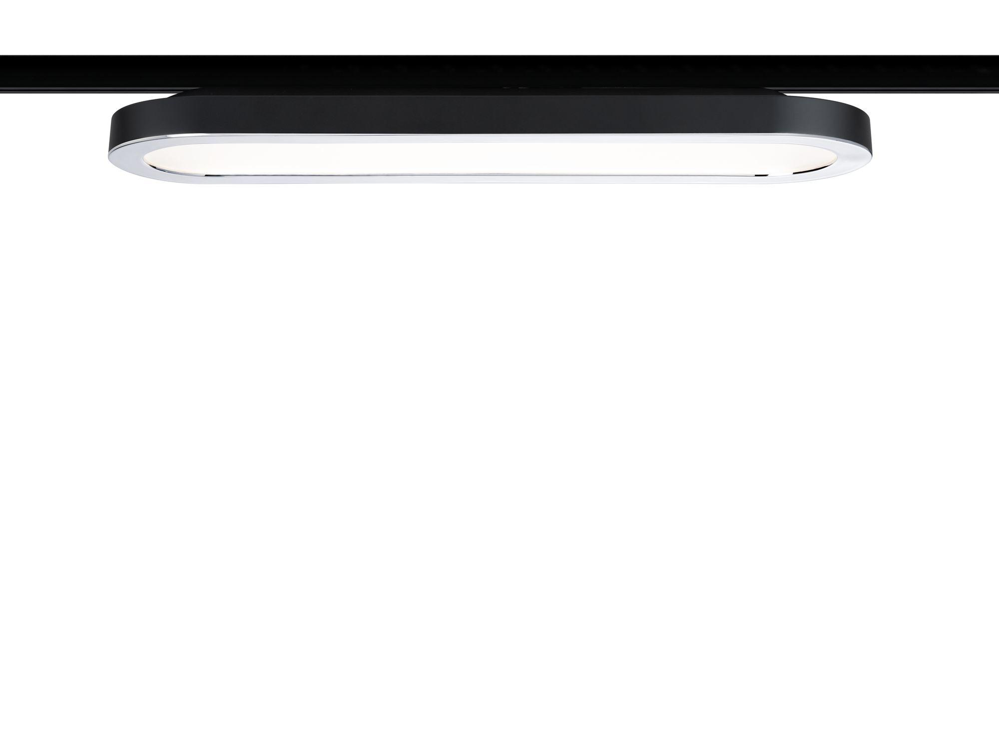 Paulmann URail LED Panel 1x7W Schwarz matt/Chrom 230V Alu/Kunststoff 2700K non-dim