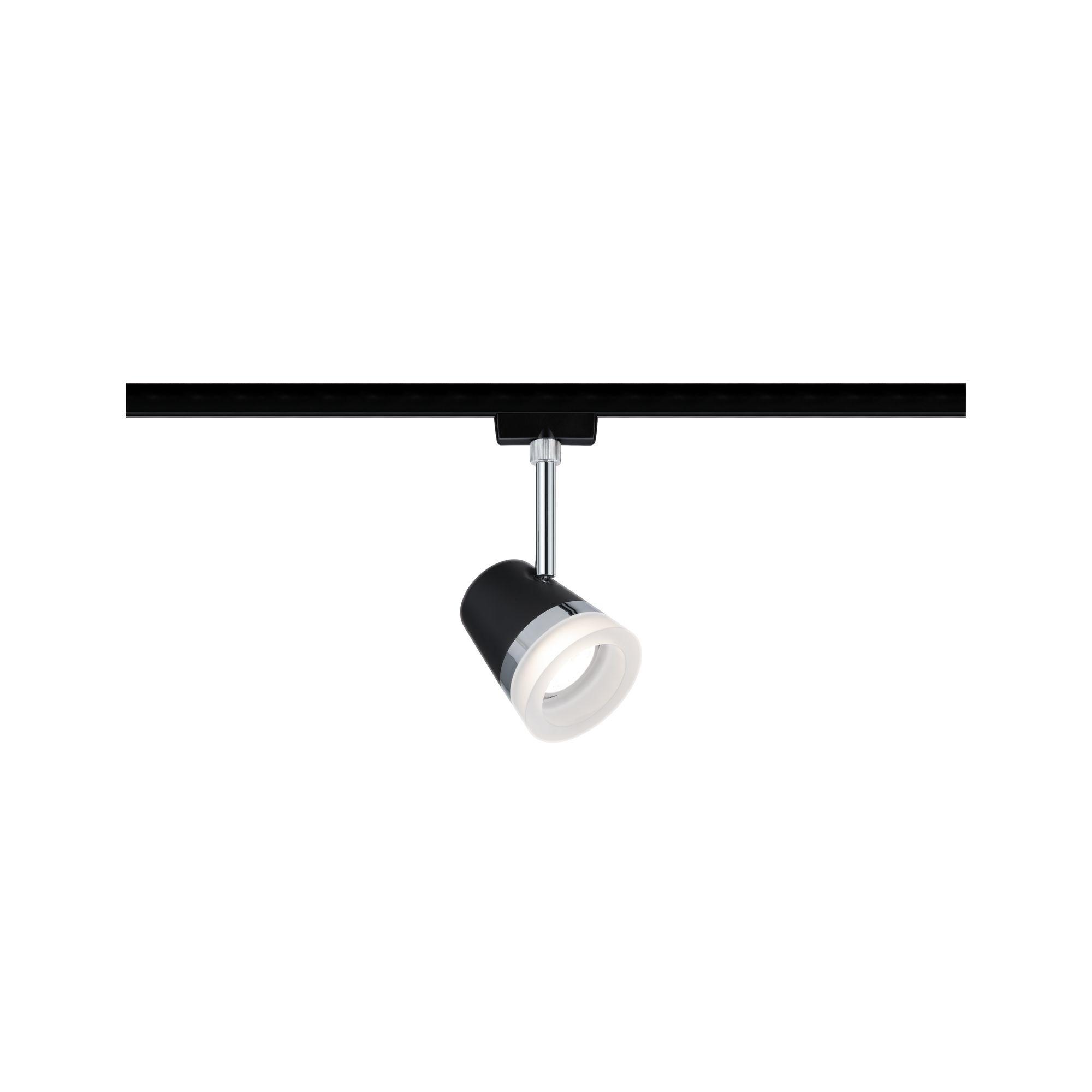 Paulmann URail Spot Cone max 1x15W Schwarz matt/ Chrom 230V Metall/Kunststoff