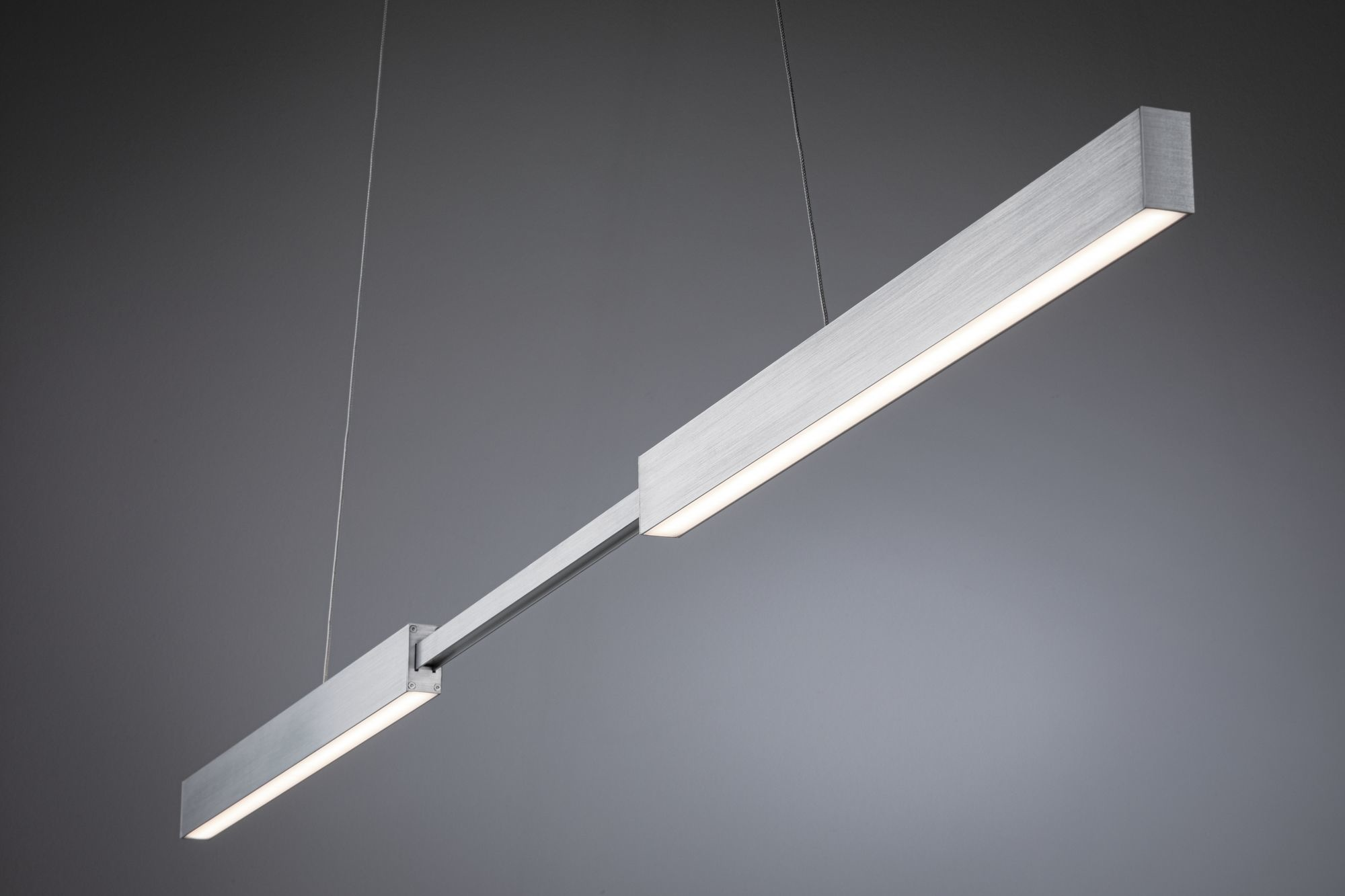 Paulmann SmartHome Zigbee LED Pendelleuchte Aptare 18W Dimmbar Alu gebürstet Metall
