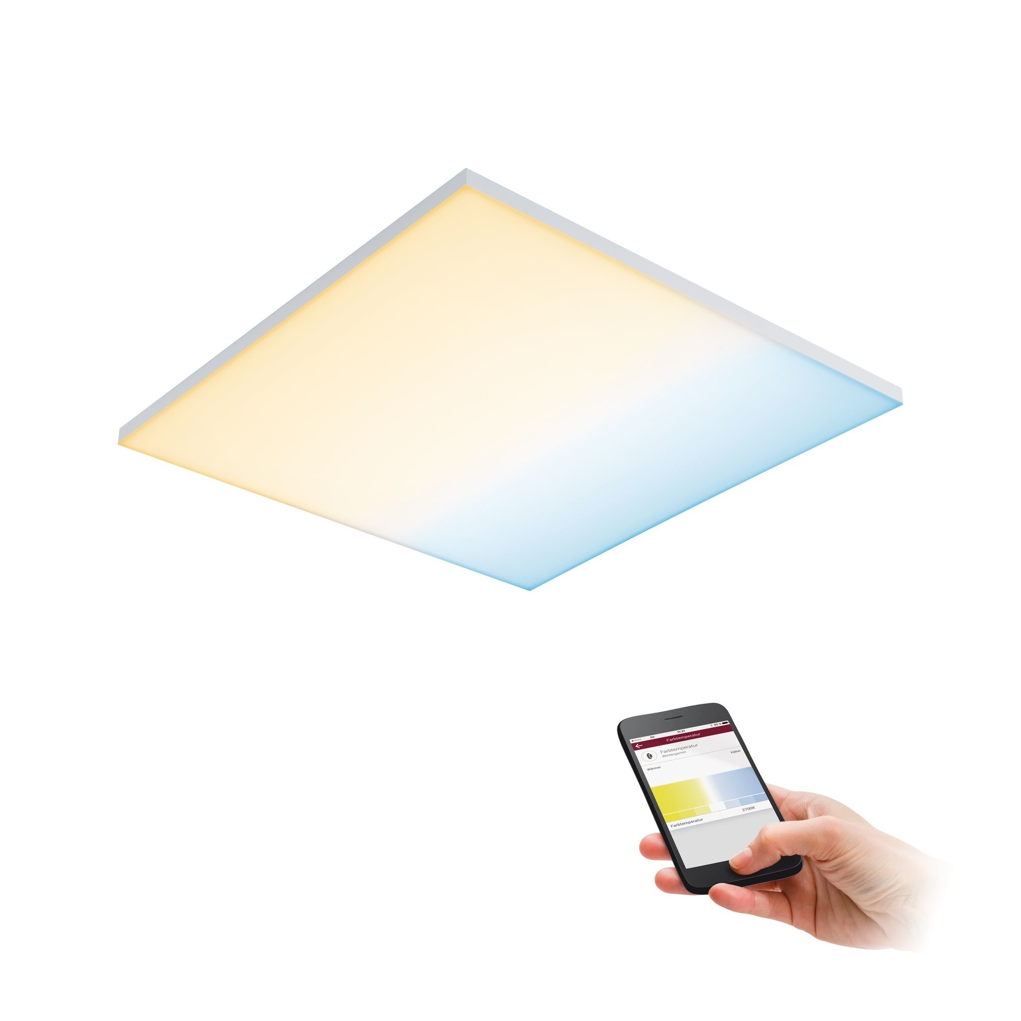 Paulmann LED Panel Velora SmartHome Zigbee 600x600mm 19,5 W Weiß matt Tunable White
