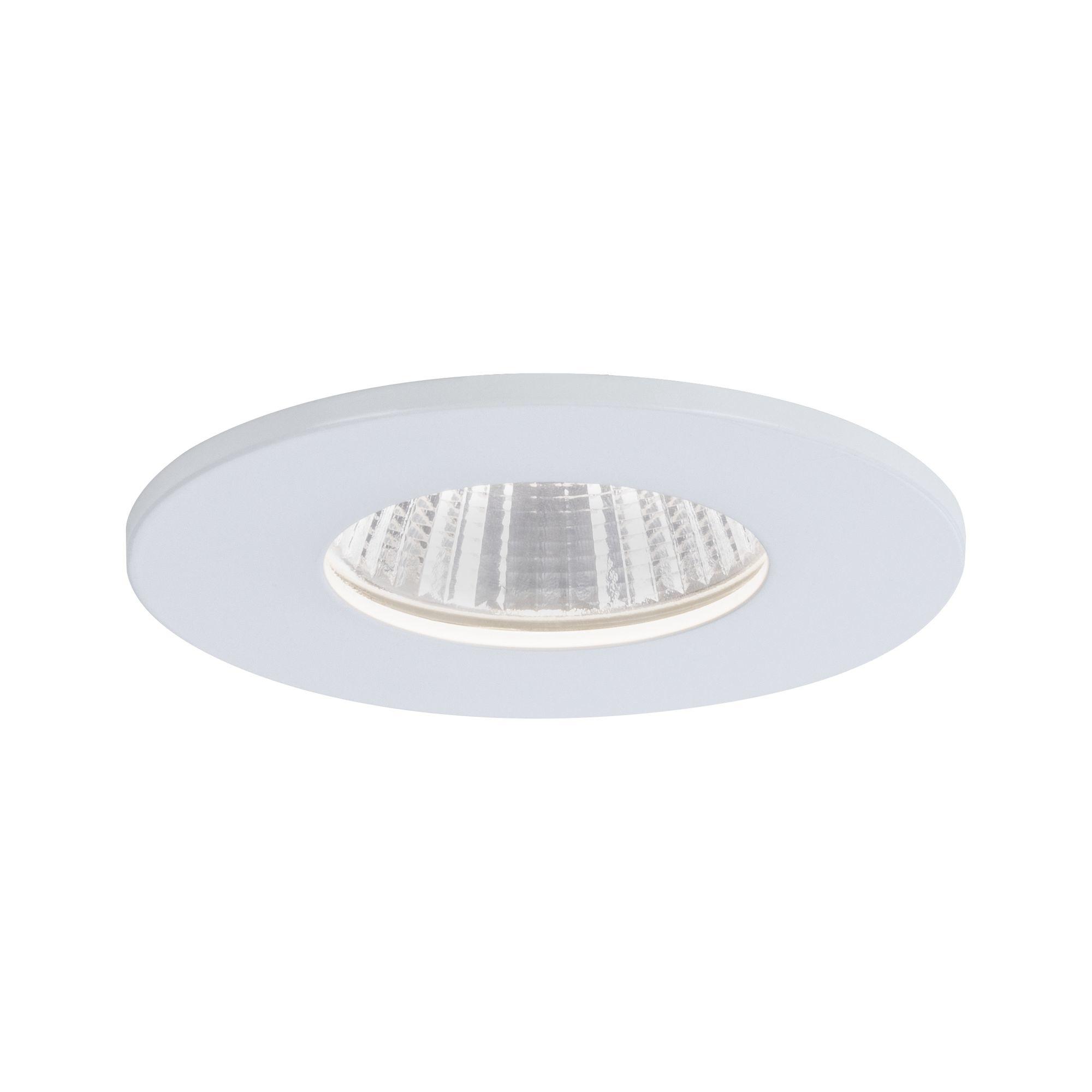 Paulmann EBL Set Calla IP65 rund starr LED 1x 770lm 4000K 7W 230V Weiß matt