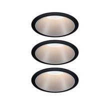 EBL Set Cole Coin 3StepDim rd starr LED 3x6,5W 2700K 230V schwarz/silber mt/Kst