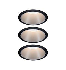 Paulmann EBL Set Cole Coin 3StepDim rd starr LED 3x6,5W 2700K 230V schwarz/silber mt/Kst