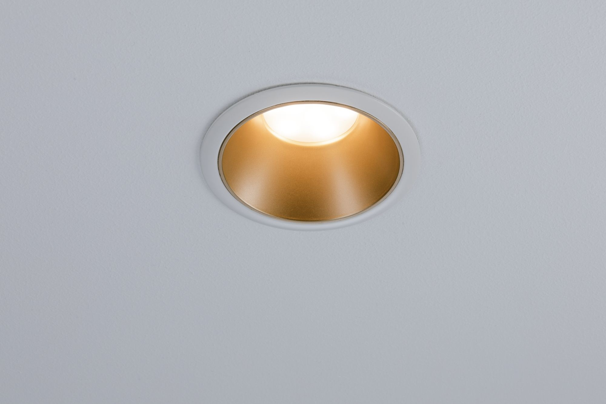 Paulmann EBL Set Cole Coin 3StepDim rd starr LED 1x6,5W 2700K 230V weiß/gold matt/Kst
