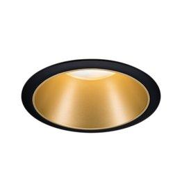 Paulmann EBL Set Cole Coin 3StepDim rd starr LED 1x6,5W 2700K 230V schwarz/gold matt/Kst