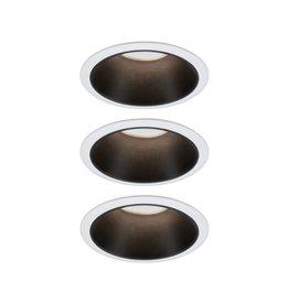 Paulmann EBL Set Cole Coin 3StepDim rd starr LED 3x6,5W 2700K 230V weiß/schwarz matt/Kst