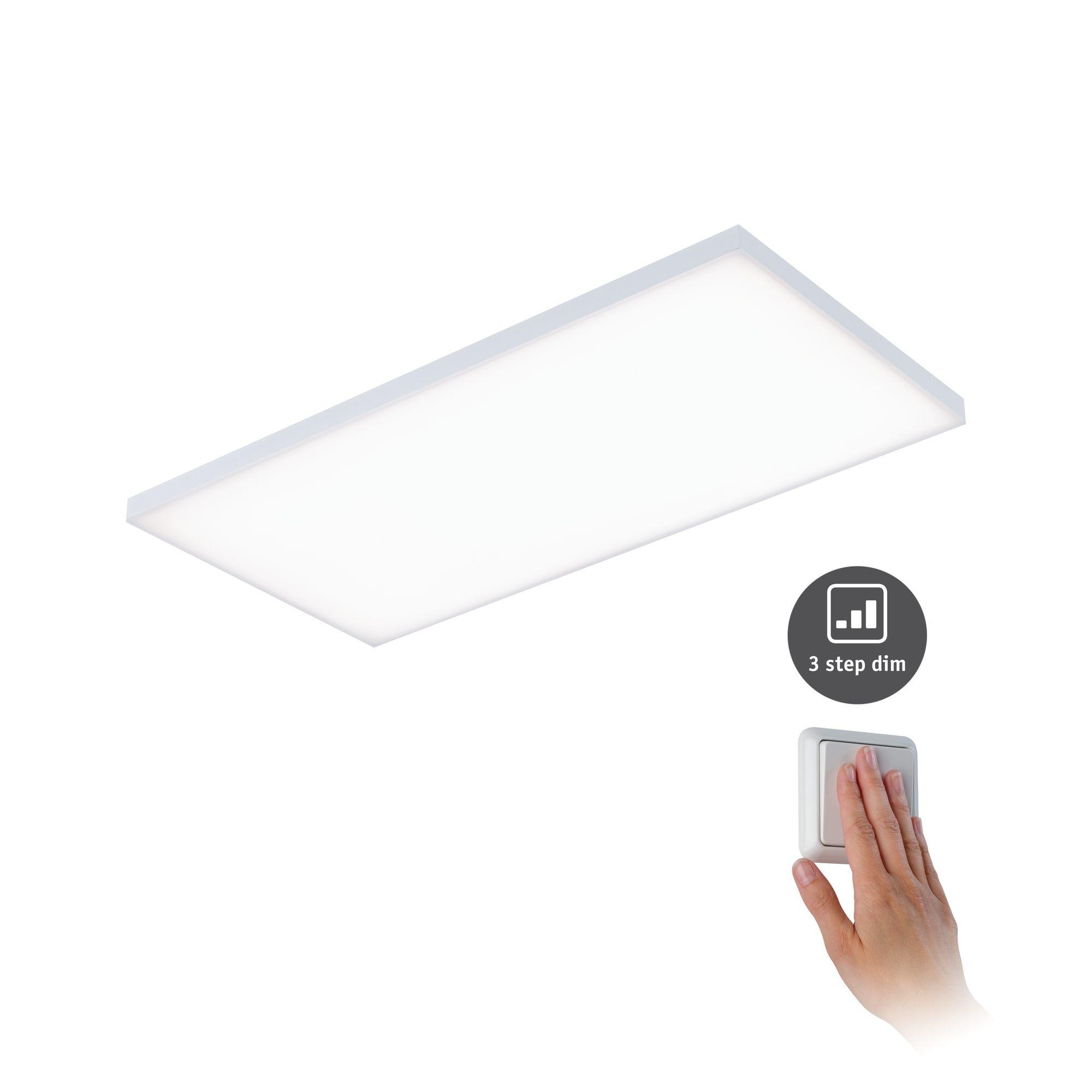 Paulmann WallCeilingVelora LED Panel dim 595x 295mm 26W Weiß matt 230V Metall