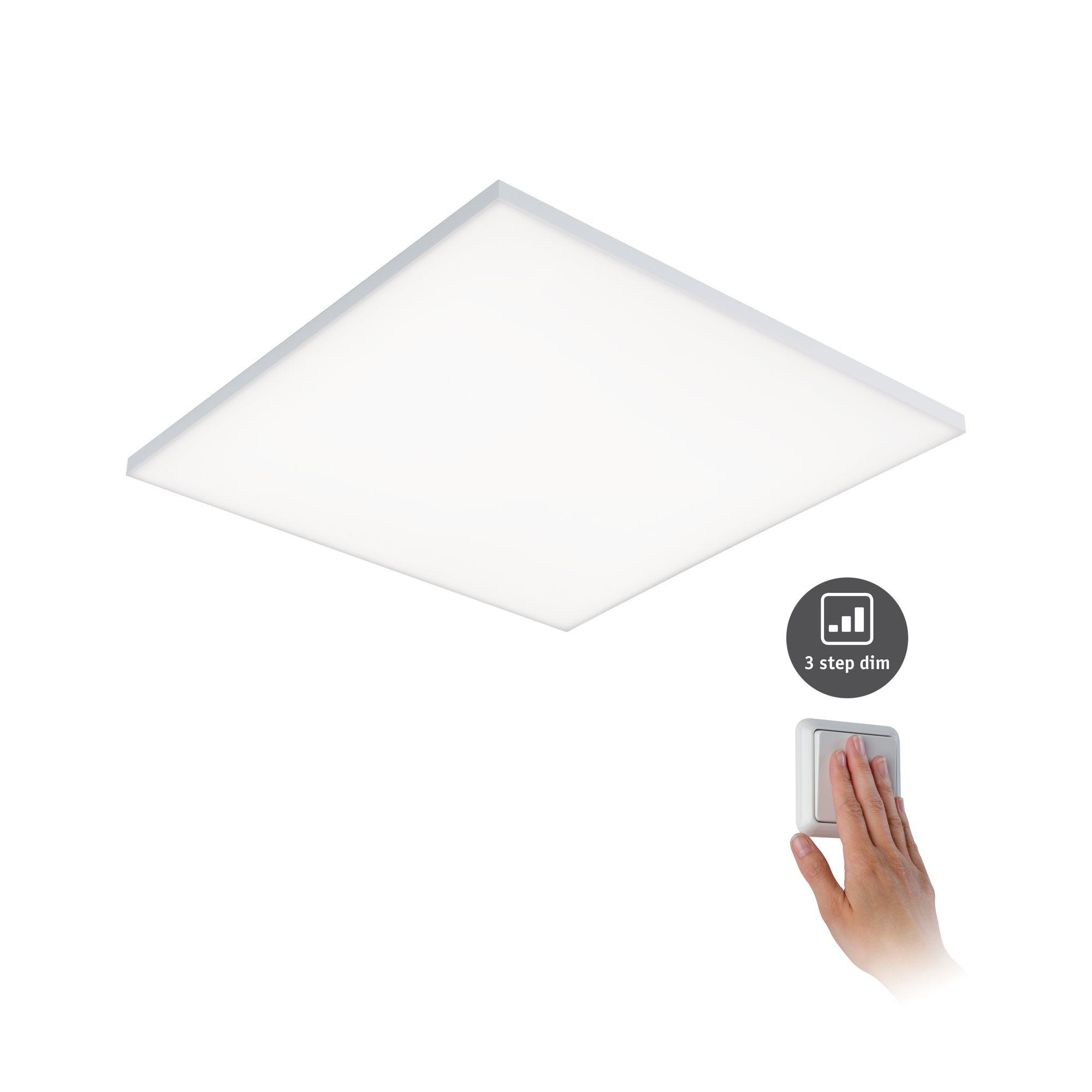 Paulmann WallCeilingVelora LED Panel dim 595x 595mm 34W Weiß matt 230V Metall