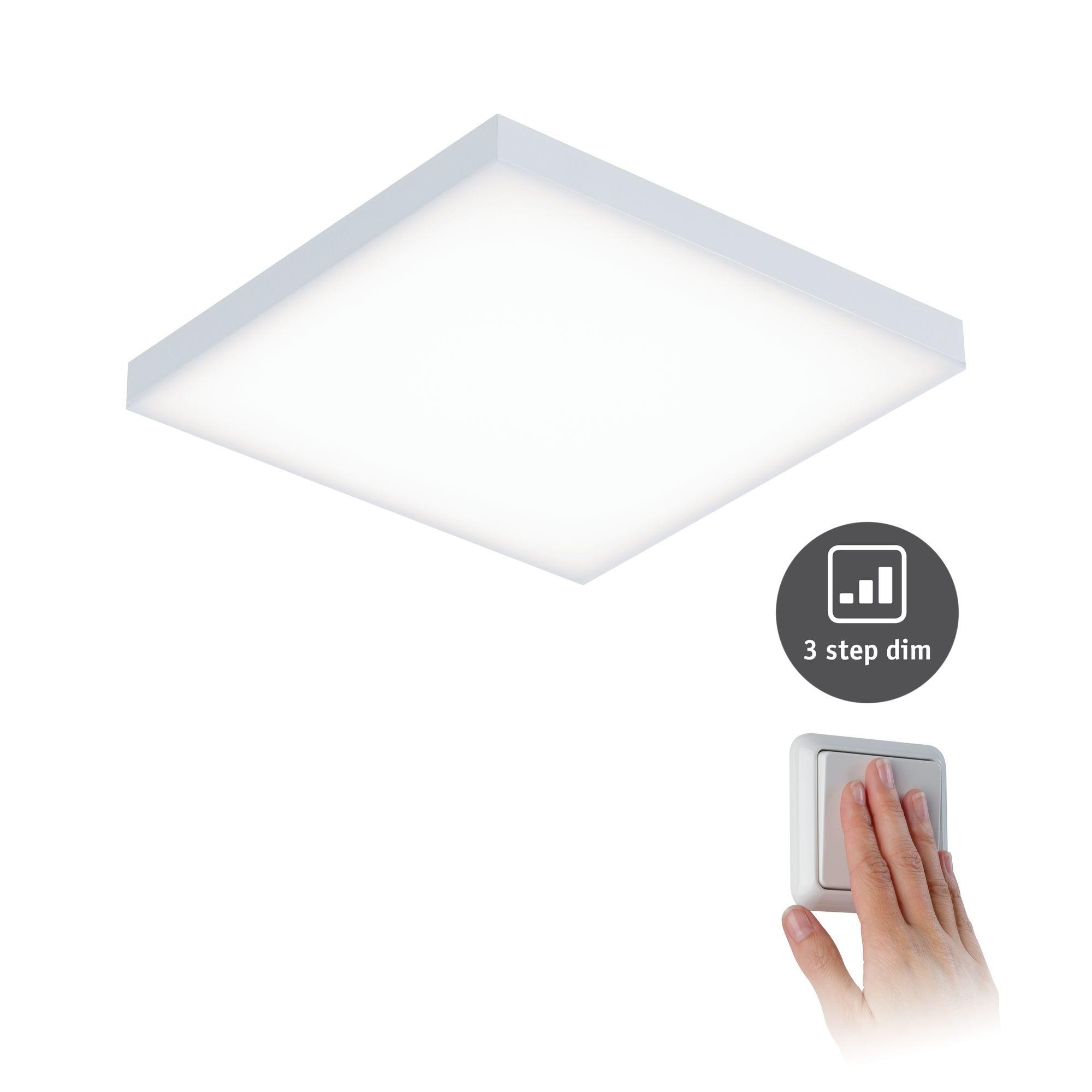 Paulmann WallCeilingVelora LED Panel dim 225x 225mm 12W Weiß matt 230V Metall