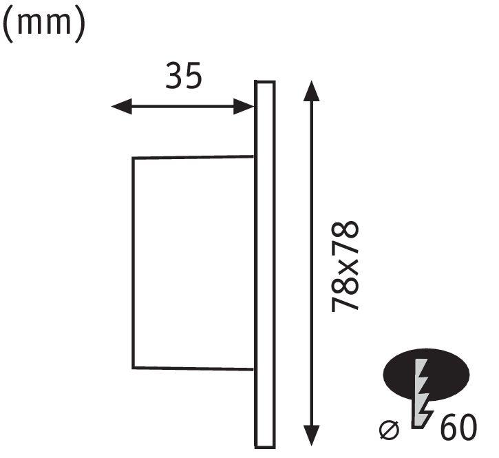 Paulmann Wand EBL Set eckig 1x1,7W 2700K 230V Weiß/Kunststoff