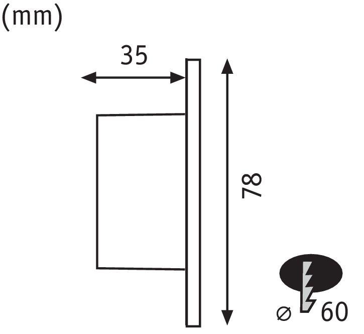 Paulmann Wand EBL Set rund 1x1,7W 2700K 230VWeiß/Kunststoff