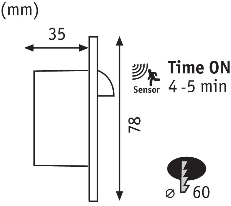 Paulmann Wand EBL Set Sensor rund 1x2,7W 2700K230V Weiß/Kunststoff