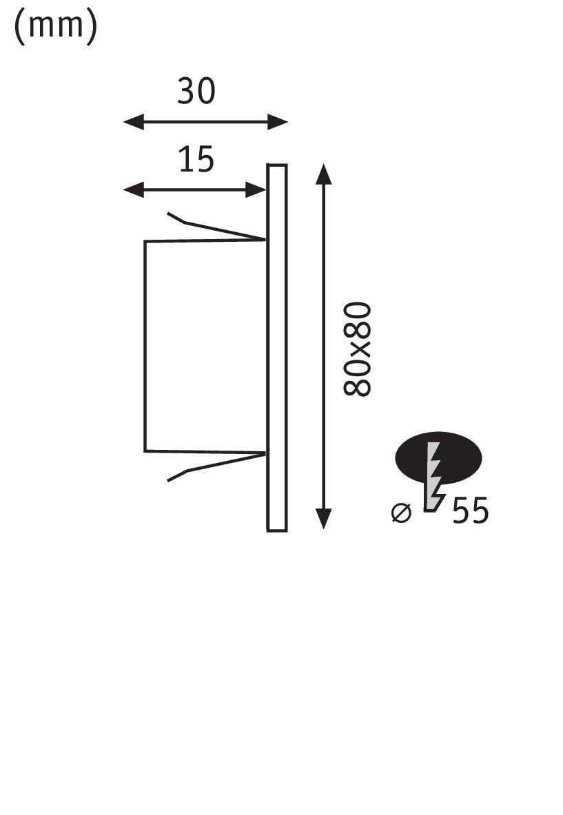 Paulmann Special Wand EBL Set Edge eckig LED1x1,1W 230V Chrom matt