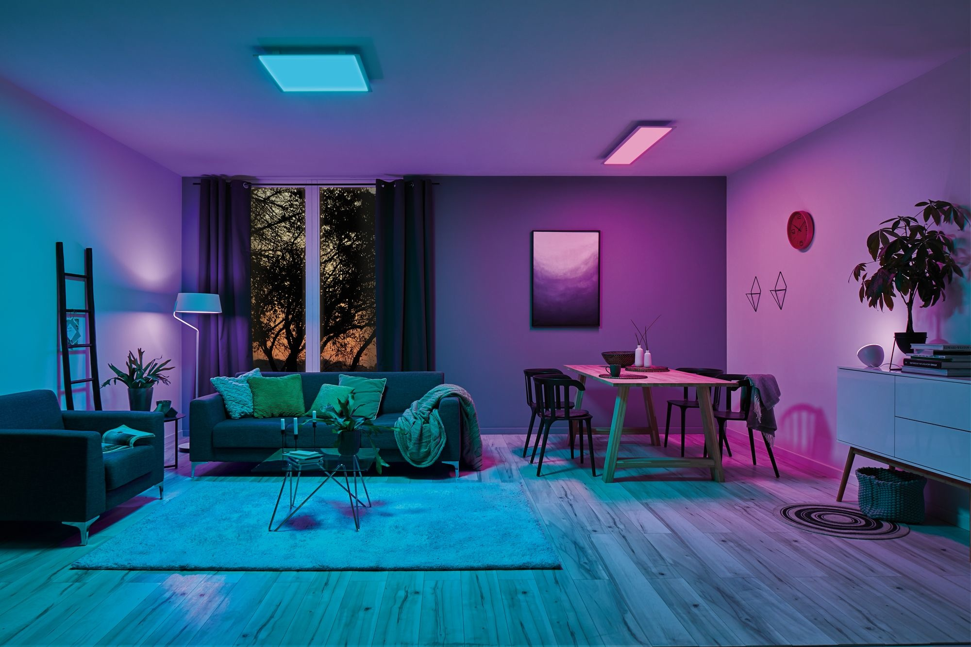 Paulmann LED Panel Amaris SmartHome Zigbee 1200x300mm 35 W Weiß matt RGBW Farbwechsel