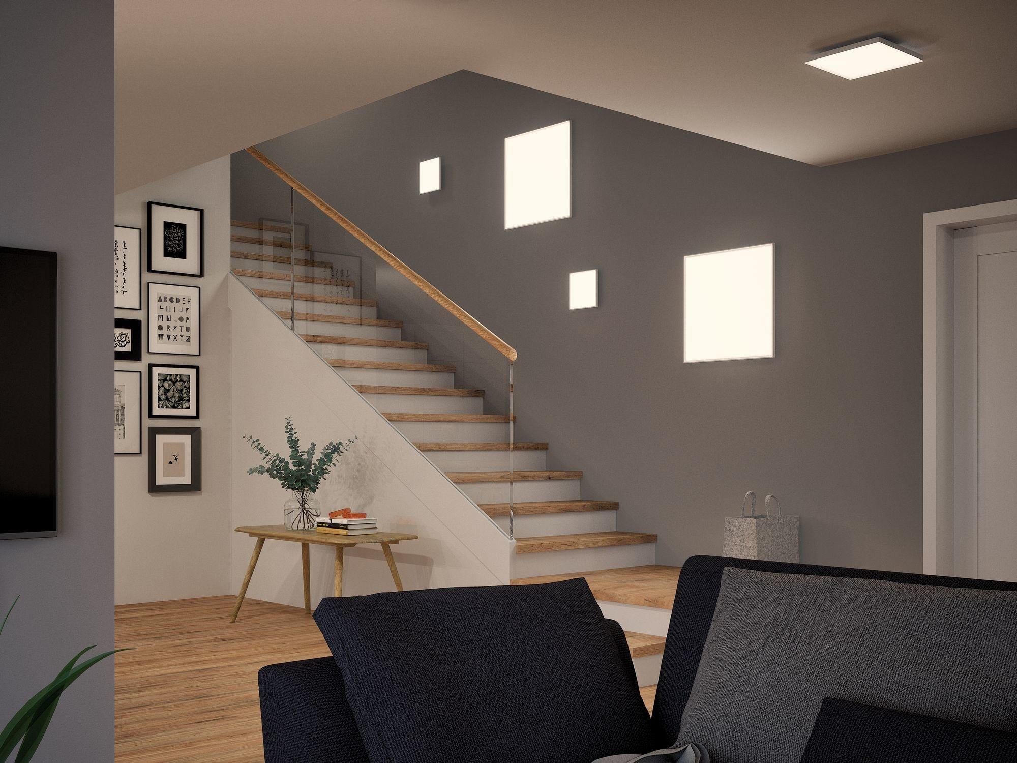 Paulmann WallCeiling Velora LED Panel 295x295mm 16,8W Weiß matt 230V Metall