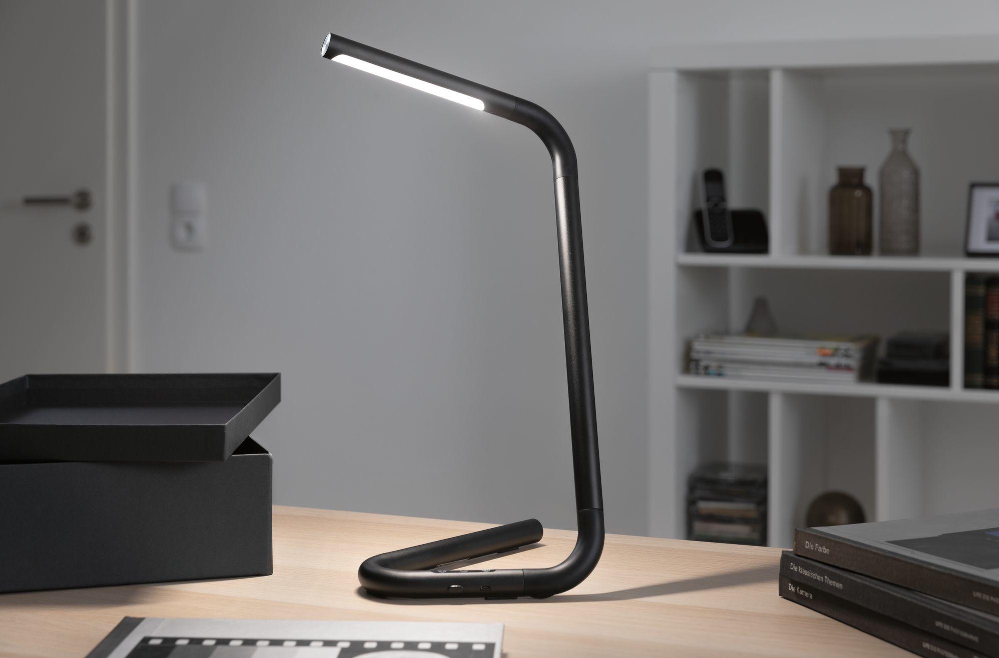 Paulmann LED Schreibtischleuchte FlexLink Schwarz 4,5W Tunable White 2.700K