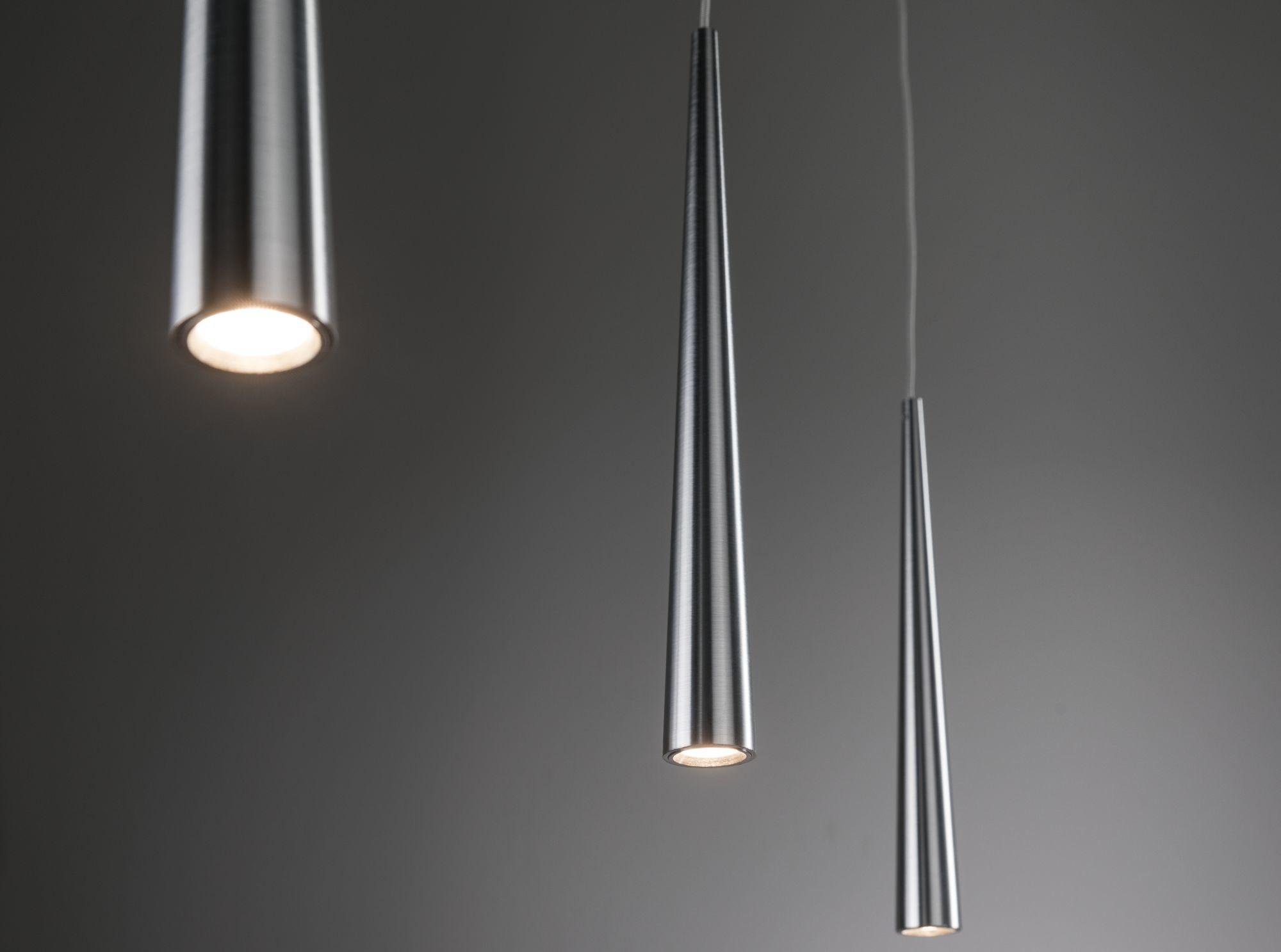 Paulmann LED Pendelleuchte Gutta 3-flammig 3x7W Alu gebürstet dimmbar