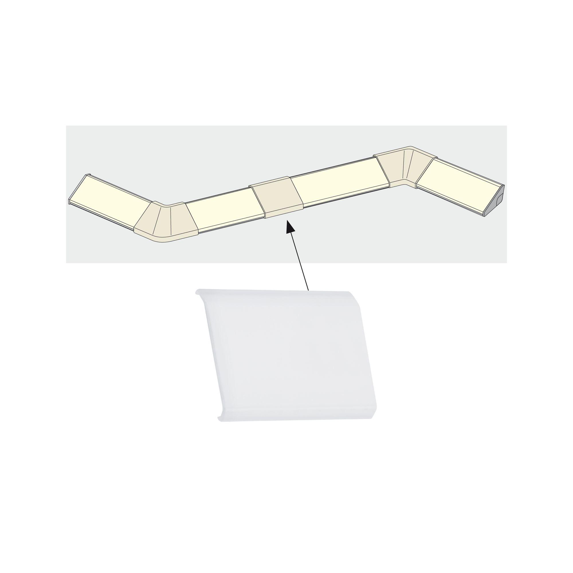 Paulmann Delta Profil Cover 4er Pack Satin, Kunststoff