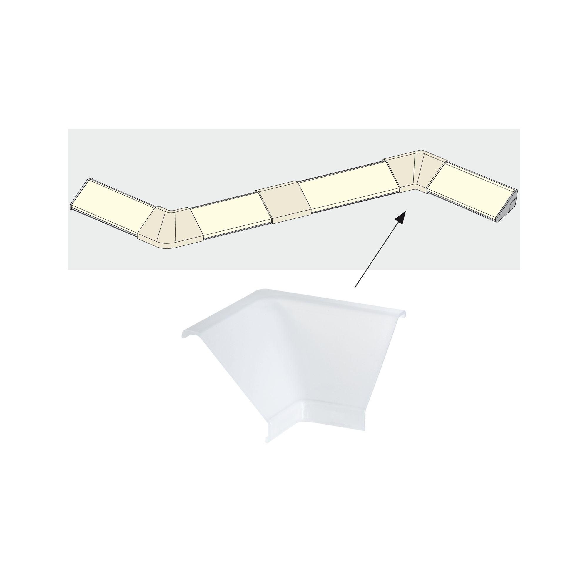 Paulmann Delta Profil Inside Corner 2er Pack Satin, Kunststoff