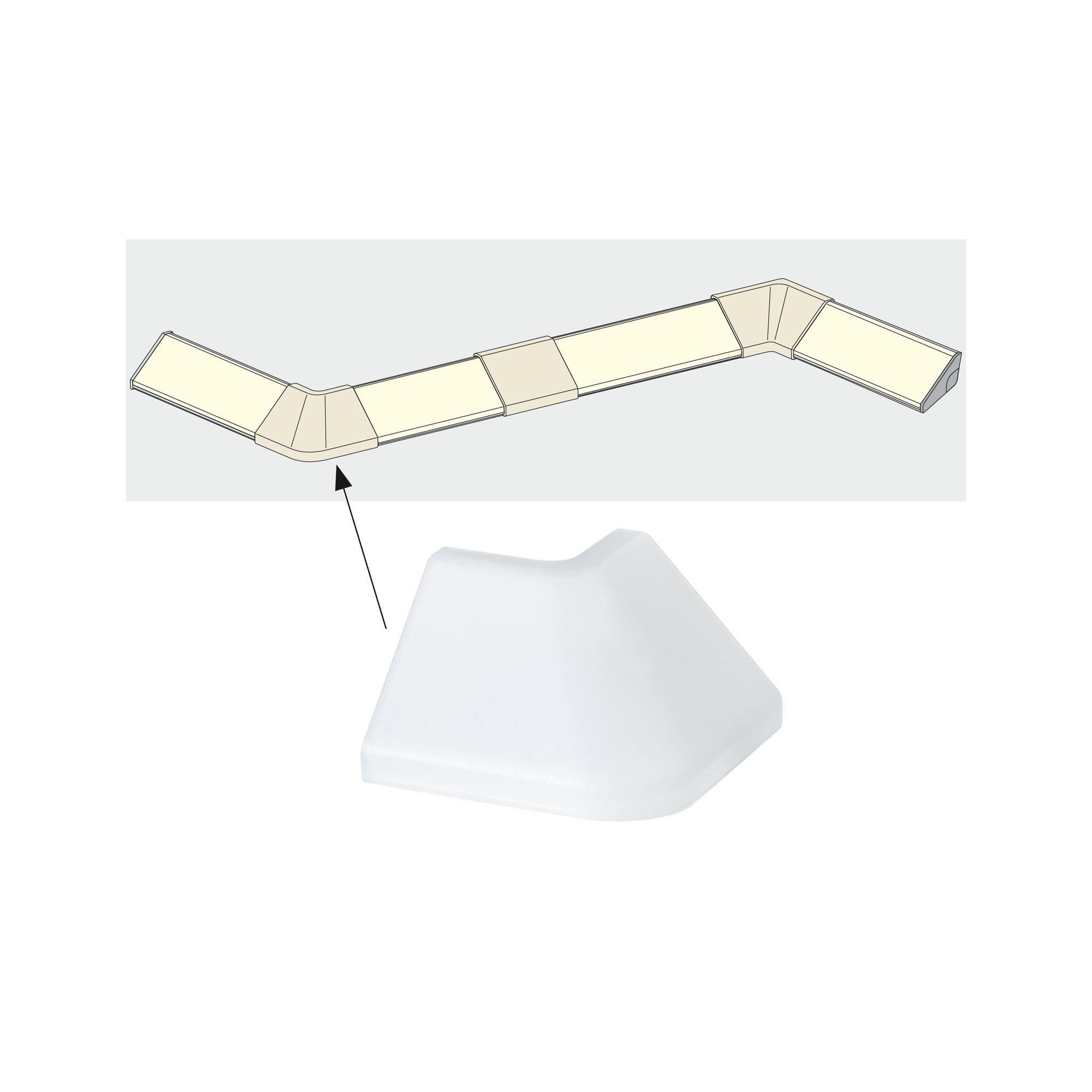Paulmann Delta Profil Corner 2er Pack Satin, Kunststoff