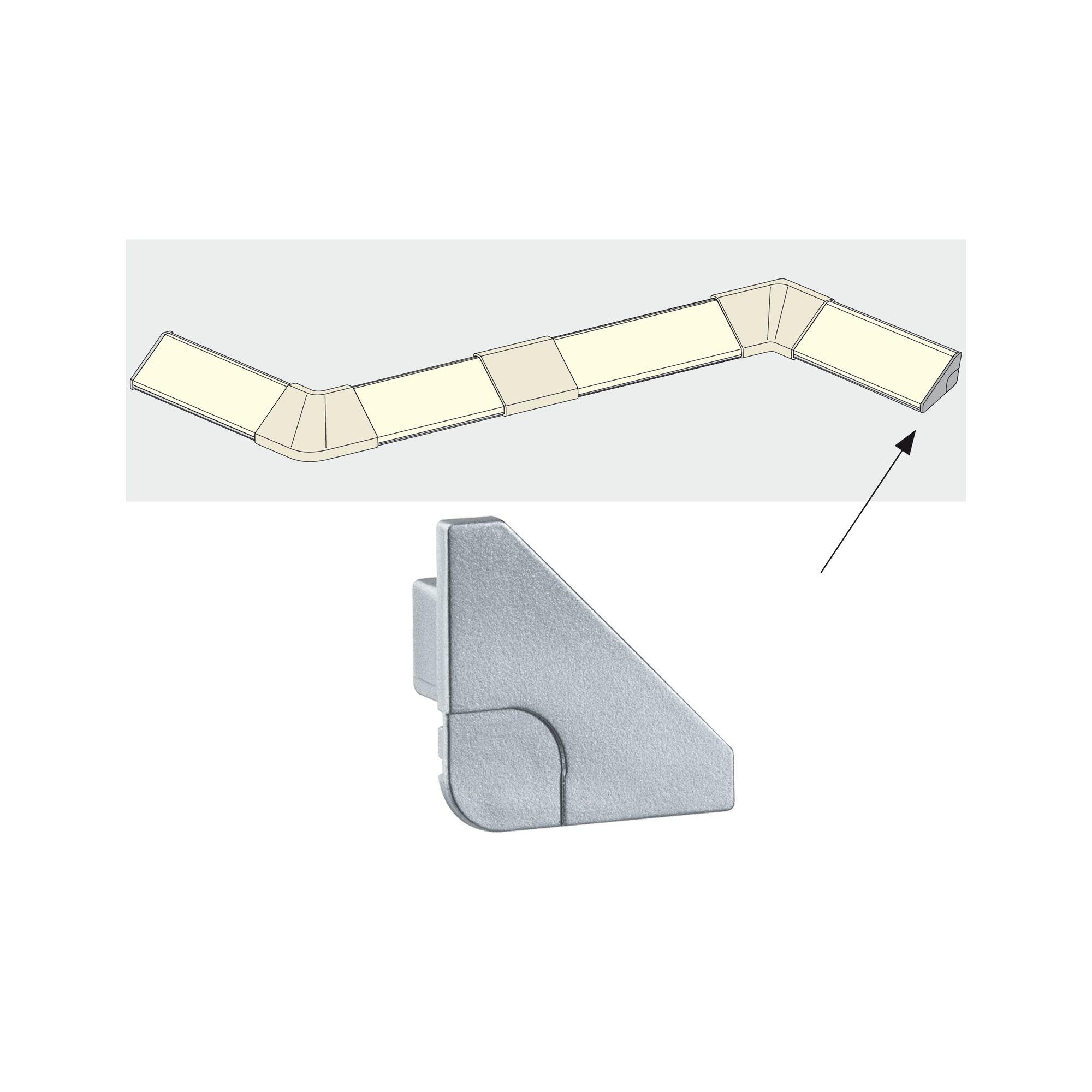 Paulmann Delta Profil Cap 2er Pack Alu matt, Kunststoff