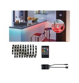 Paulmann YourLED Lights and Sound Comfort Set 3m RGB für musikgesteuerten Farbwechsel