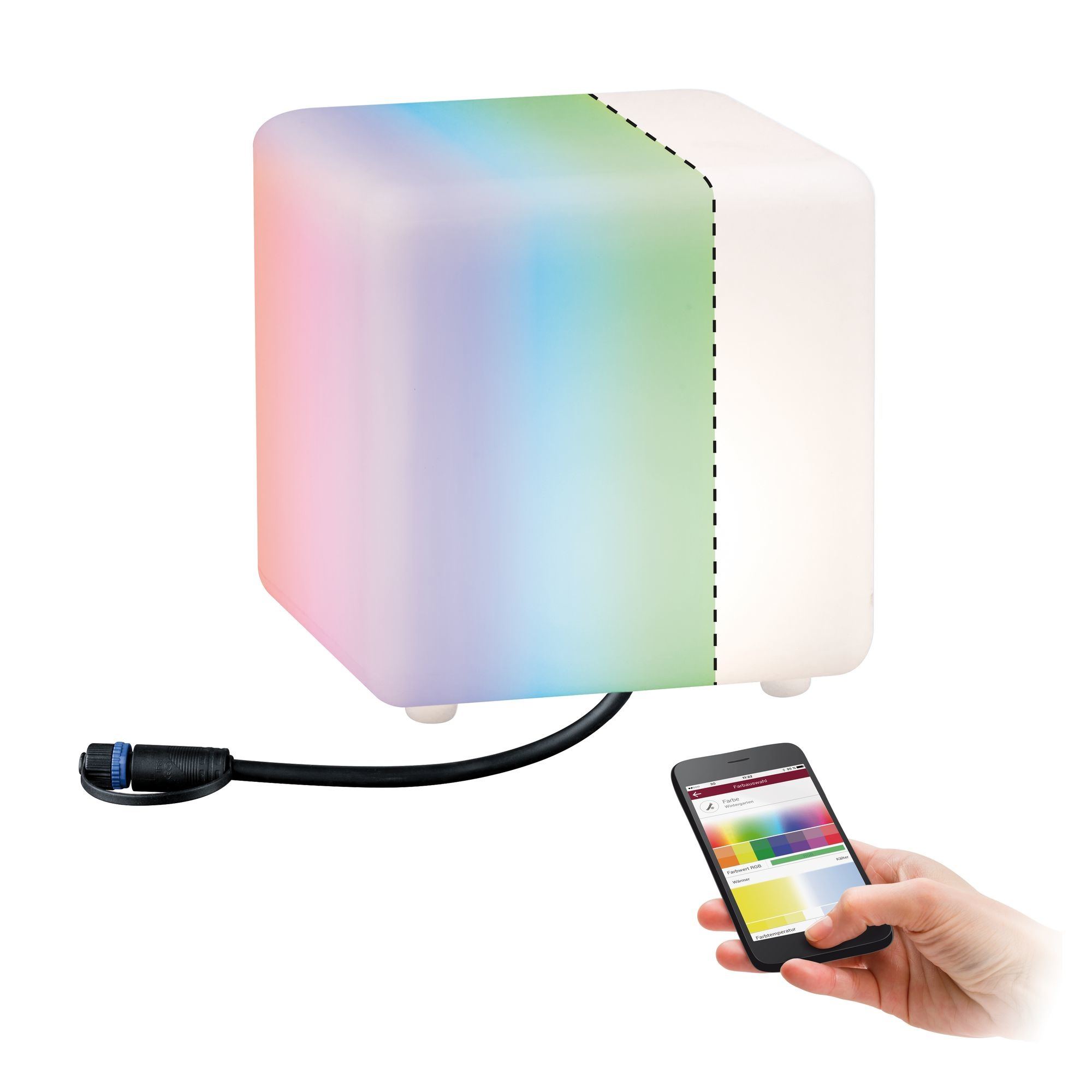 Paulmann Plug & Shine ZigBee RGBW Lichtobjekt Cube 2,8W 24V
