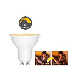 Paulmann LED 6 Watt GU10 1.800 - 3.000K dim to warm