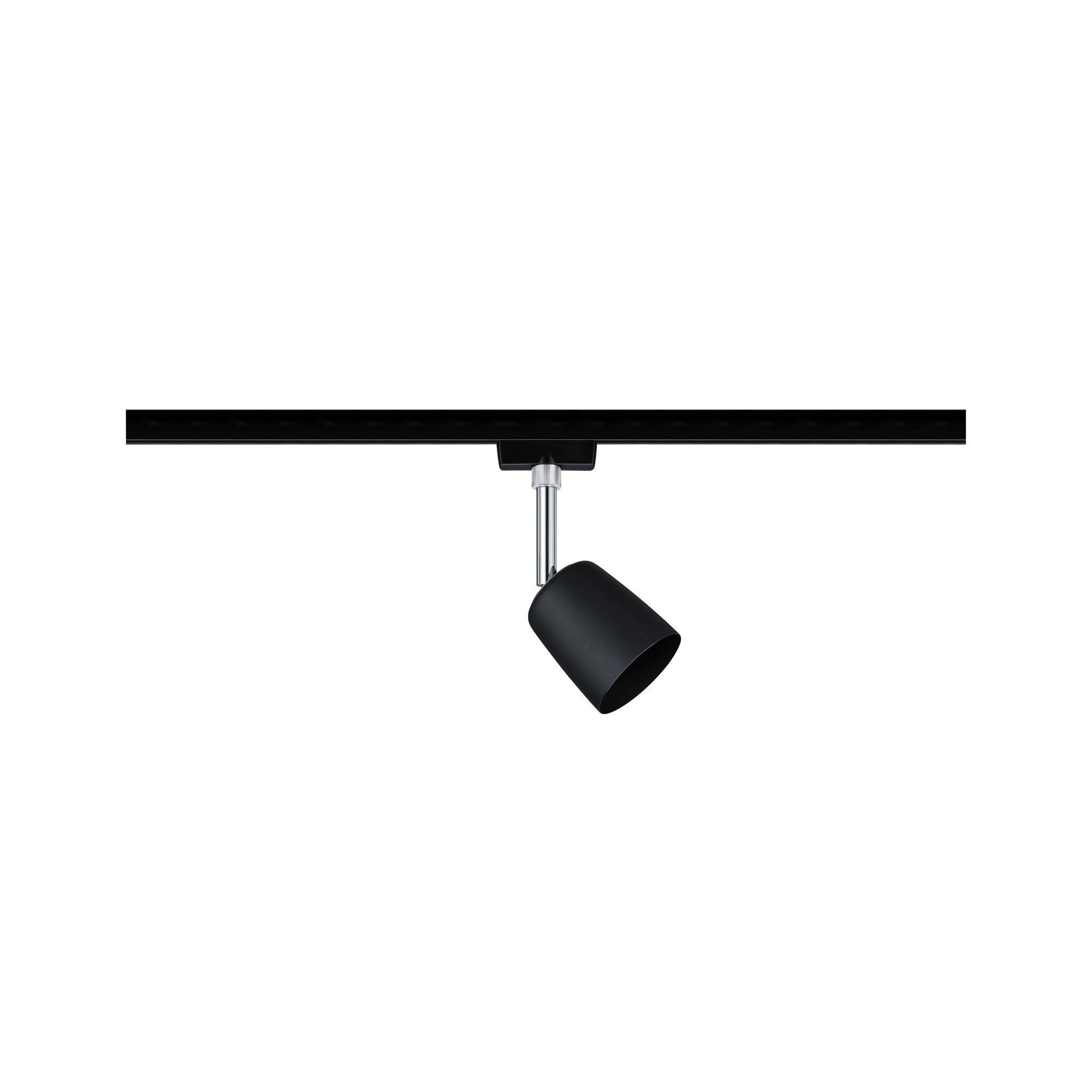 Paulmann URail Spot Cover max 1x10W GU10 Schwarz matt/Chrom 230V Metall/Kunststoff