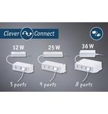 Paulmann Möbelleuchten Clever Connect Driver max. 12W 12V DC incl 3fach Verteiler Weiß