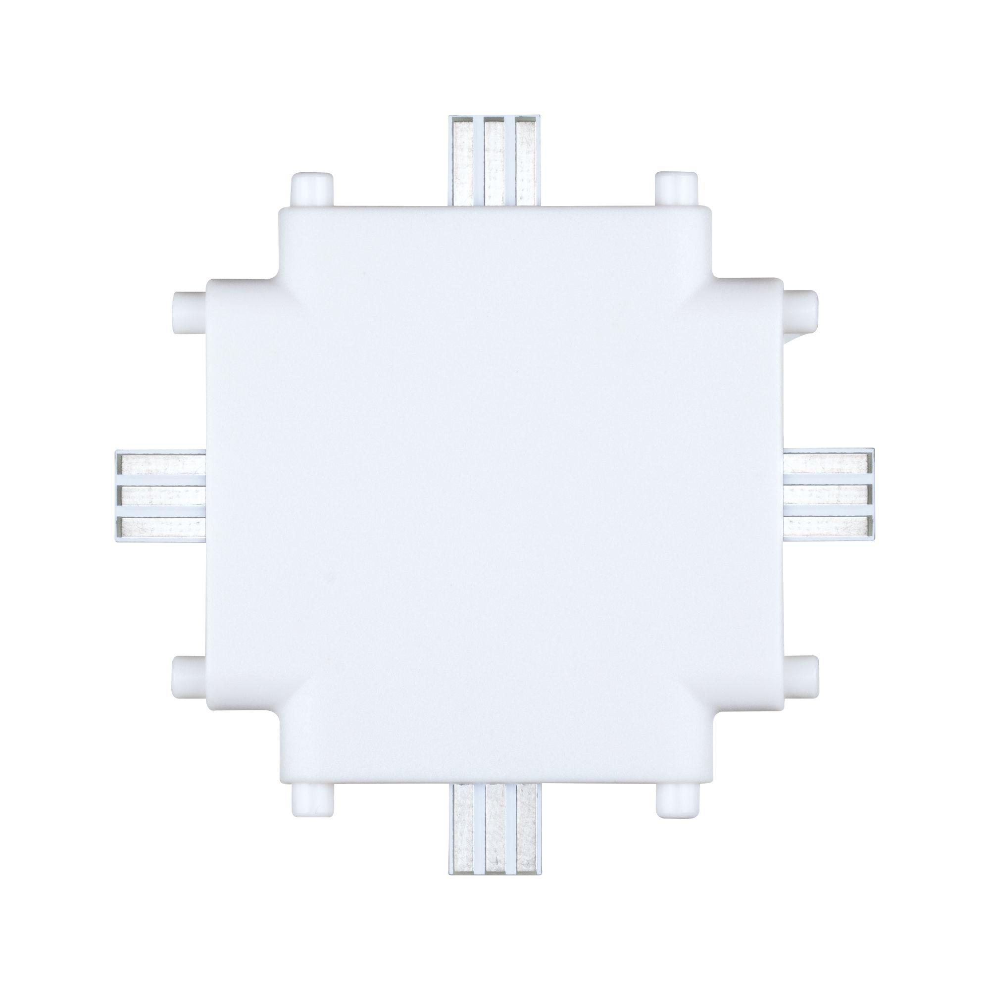 Paulmann Möbelleuchten Clever Connect X-Verbinder Border Weiß matt 12V