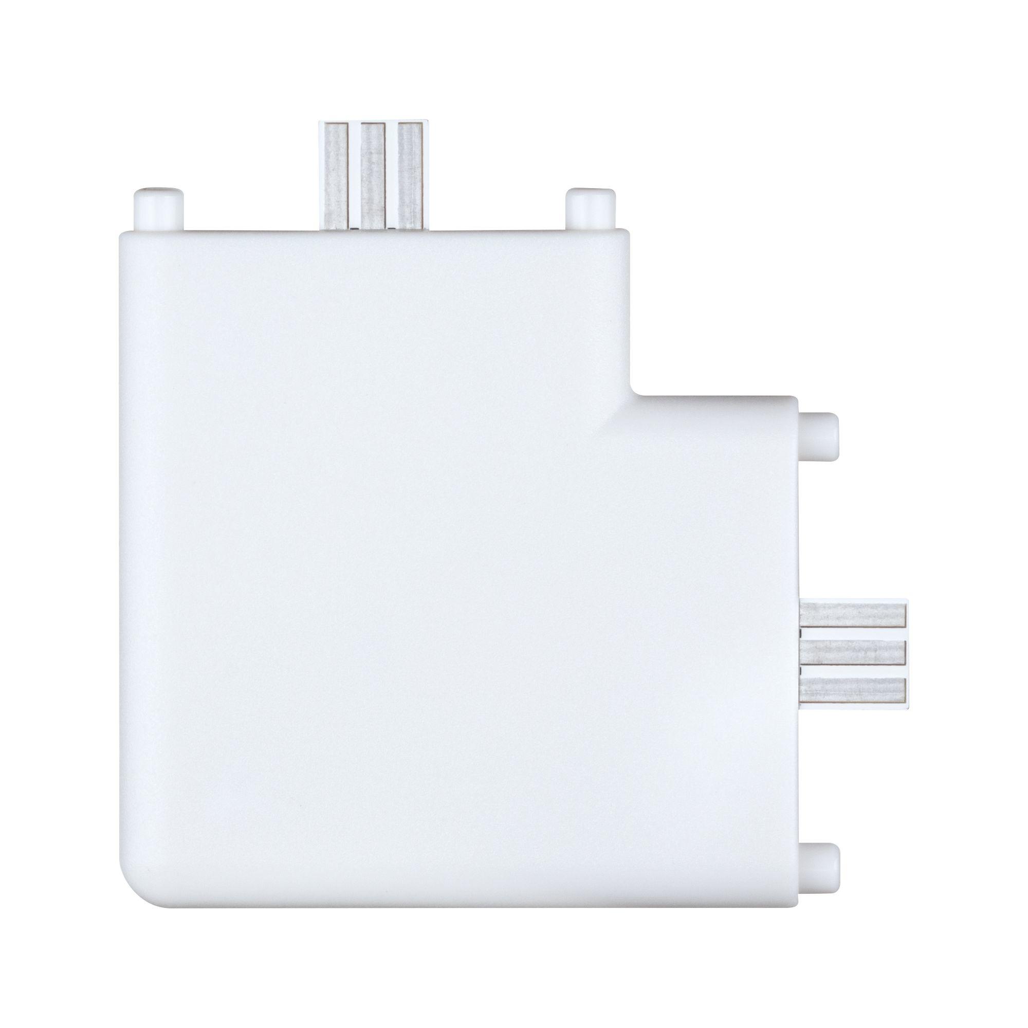 Paulmann Möbelleuchten Clever Connect Eck-Verbinder Border Weiß matt 12V