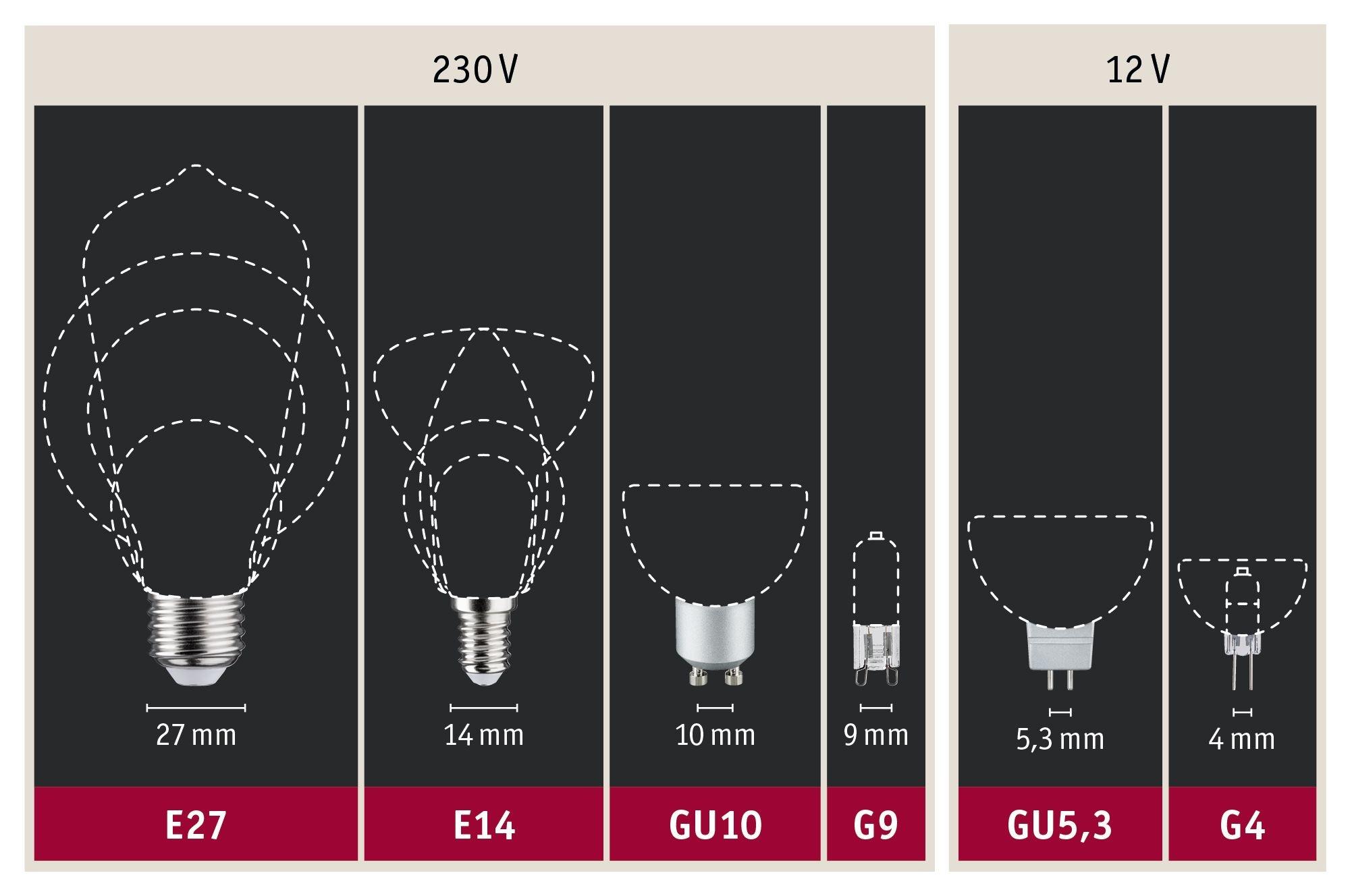 Paulmann LED Reflektor 7 Watt Weiß matt GU10 4.000K Neutralweiß